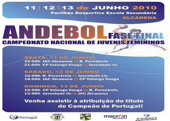 Cartaz Fase Final Juvenis Femininos - 11 a 13.06.10, Alcanena