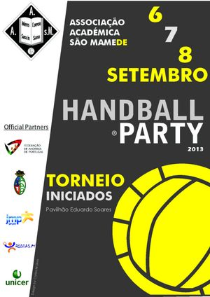 Cartaz II Torneio Handball Party AASM