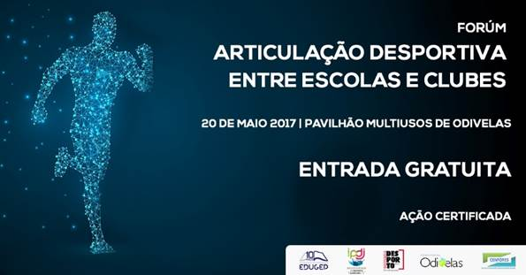 """Cartaz Seminário """"Articulação Desportiva entre Escolas e Clubes"""""""
