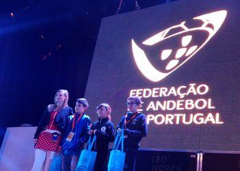 Constança Saias (SIM Porto Salvo), Filipe Monteiro (GDC Azurara), João Tomás Gomes (CAIC) vencedores EN Minis e Bebiana Sabino