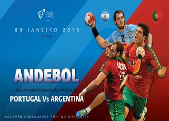 Cartaz jogo Portugal - Argentina