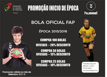 Cartaz da promoção de bolas Hummel