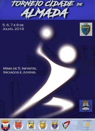 Cartaz XXXVIII Torneio Cidade de Almada em Andebol