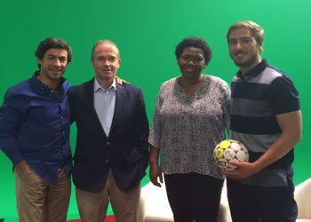 Luís de Castro (RTP2), Miguel Laranjeiro, São Fernandes e Pedro Seabra no Sociedade Civil