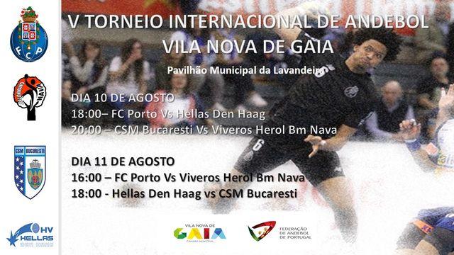Cartaz V Torneio Internacional de Andebol de Vila Nova de Gaia 2018