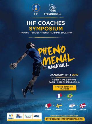 Cartaz IHF Coaches Symposium - Janeiro de 2017