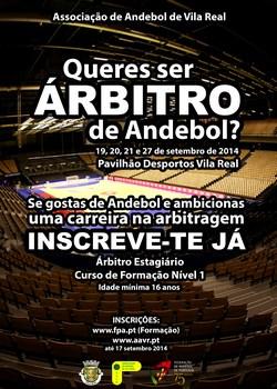 CartazCurso Arbitros Vila Real - Setembro 2014 - nova versão