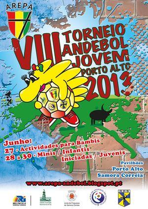 Cartaz VIII Torneio de Andebol Jovem Feminino AREPA 2013