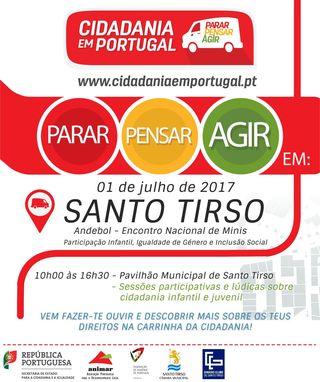 Cartaz Roteiro de Cidadania em Portugal - Santo Tirso - 01.07.17