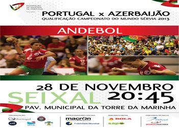 Cartaz Portugal : Azerbaijão - qualificação Campeonato do Mundo Sérvia 2013