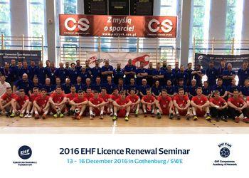 EHF Licence Renewal Seminar 2016