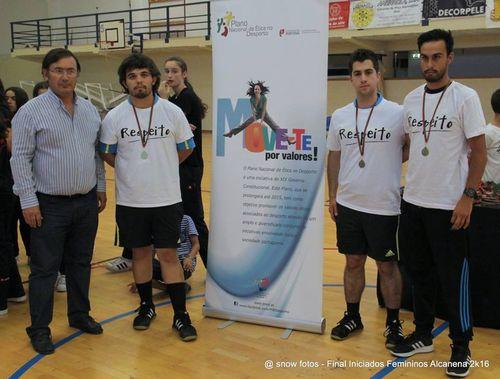 Entrega de prémios árbitros - Fase final Campeonato Nacional Iniciados Femininos 2015/16