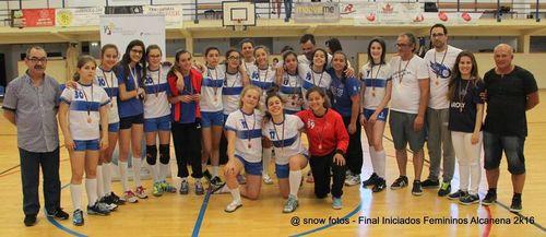 Entrega de prémios - 3º classificado - Jac-Alcanena - Fase final Campeonato Nacional Iniciados Femininos 2015/16