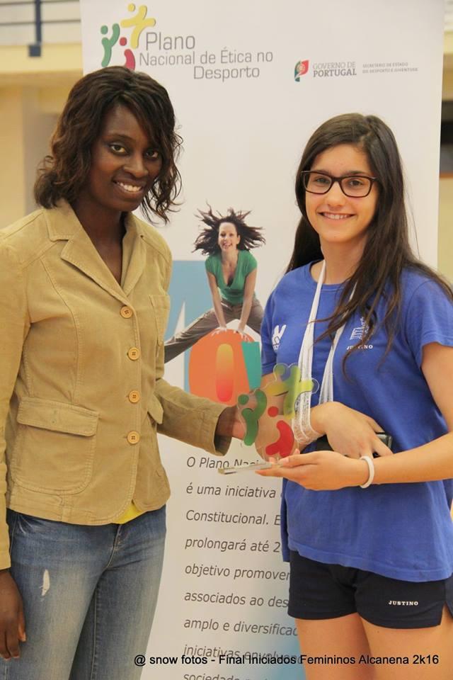 Entrega de prémio Fair-Play - Jac-Alcanena - Fase final Campeonato Nacional Iniciados Femininos 2015/16