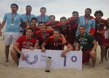 U. Porto vencedor Campeonato Nacional Universitário Andebol de Praia 2016 - masculinos