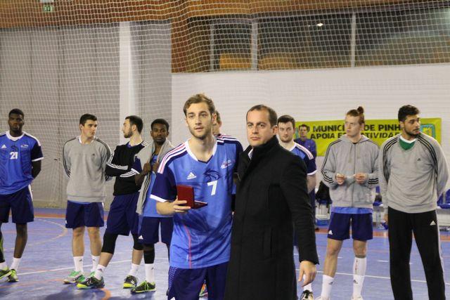 Portugal - França - troca de lembranças - Torneio 4 Nações Sub20 Masculinos