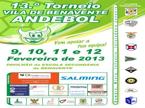 Cartaz 13º Torneio de Andebol Vila de Benavente
