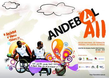 Cartaz Acção Nacional de Formação de Andebol em Cadeira de Rodas - Gaia, 20.05.2011