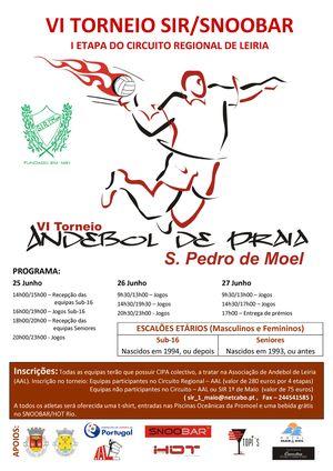 Cartaz Campeonato Regional Andebol Praia 2010 - 1ª etapa - Circuito Regional Leiria