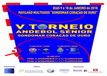 Cartaz Torneio de Andebol Gondomar Coração de Ouro