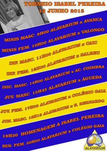 Cartaz Torneio Isabel Pereira 2015