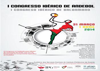 Cartaz 1º Congresso Ibérico Técnico e Científico de Andebol na Guarda