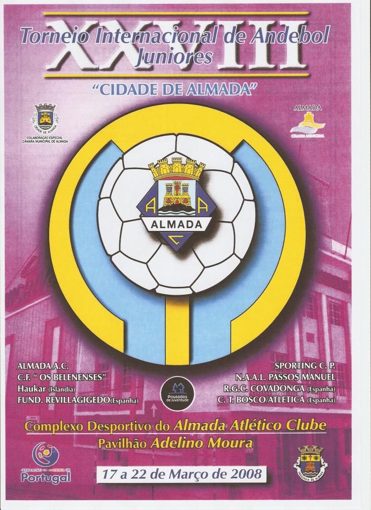 """Cartaz XXVIII Torneio Internacional de Juniores """"Cidade de Almada"""""""