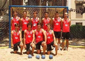 Equipa nacional sub18 Andebol de Praia - 2014