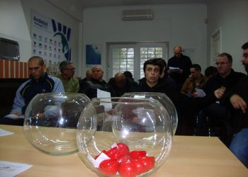 Foto sorteio Campeonato Nacional Seniores Masculinos