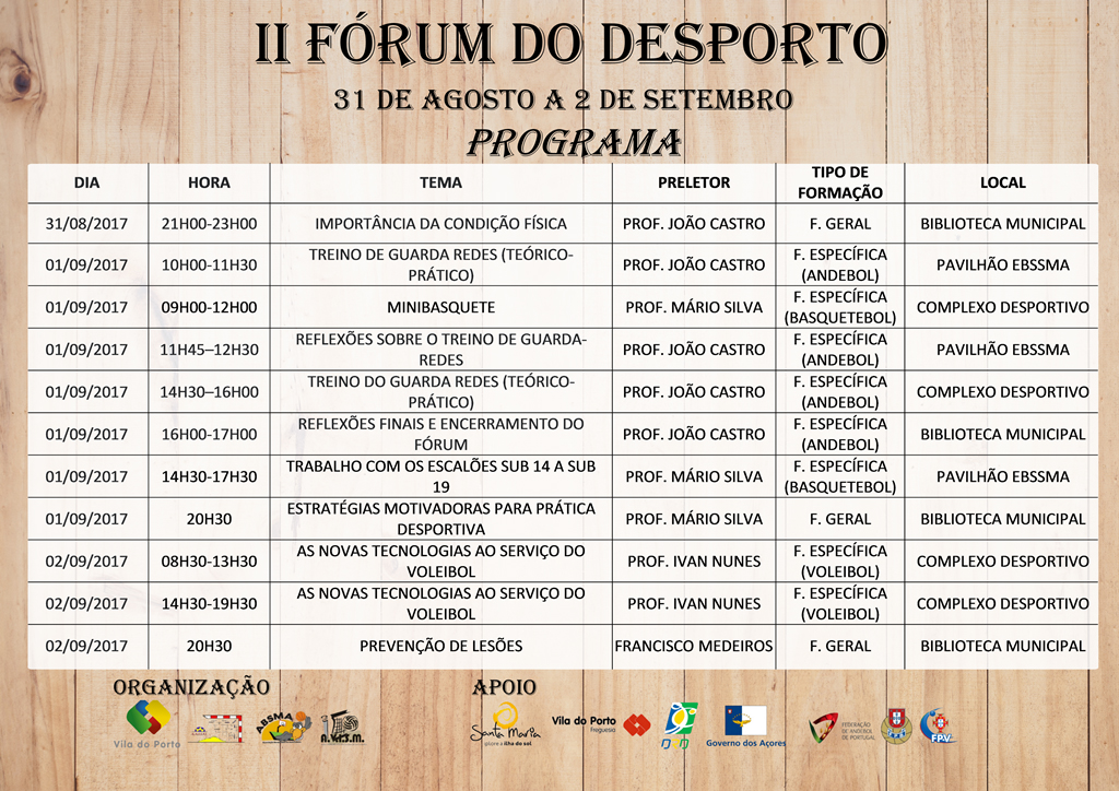 Programa - II Fórum do Desporto 2017