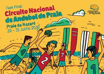 Cartaz Circuito Nacional Andebol Praia - 2016