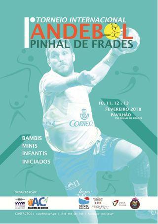 Cartaz I Torneio Internacional de Andebol do Pinhal de Frades