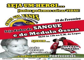 Cartaz Campanha Dar Sangue - Gil Eanes