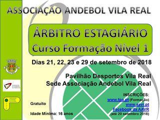 Cartaz Curso de Árbitros Estagiários - AA Vila Real