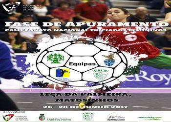 Cartaz Fase de Apuramento do Campeonato Nacional de Iniciados Femininos