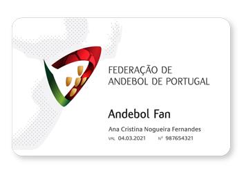 Cartão Andebol Fan