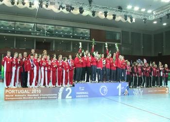 Mundial escolar - podio feminino