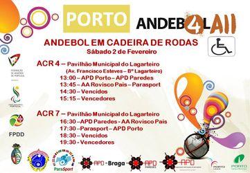 Cartaz concentração de Andebol em Cadeira de Rodas - Porto