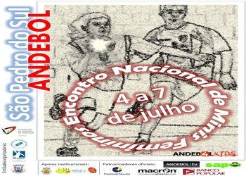 Cartaz Encontro Nacional Minis Femininos - S. Pedro Sul, 4 a 7 Julho 2013