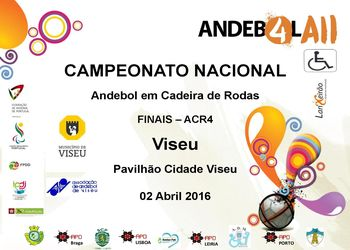 Cartaz Fase Final do Campeonato Nacional de ACR4 - Viseu