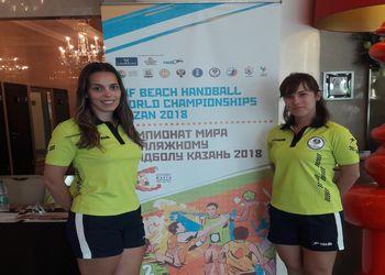 Ana Barbosa e Nádia Lemos - Mundial Andebol de Praia Kazan 2018
