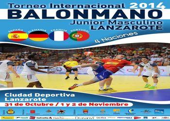 Cartaz Torneio 4 Nações - Lanzarote 2014