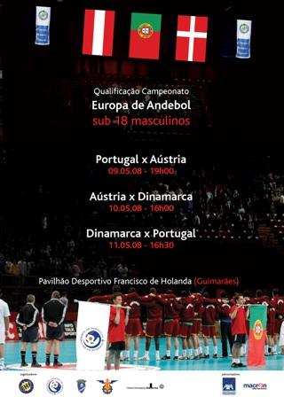 Cartaz Qualificação Campeonato da Europa Sub 18 Masculinos