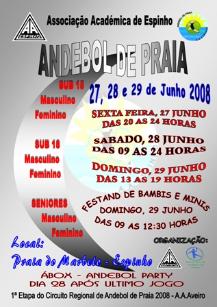 Andebol de Praia - 27, 28 e 29 de Junho de 2008 - Praia do Marbelo, Espinho