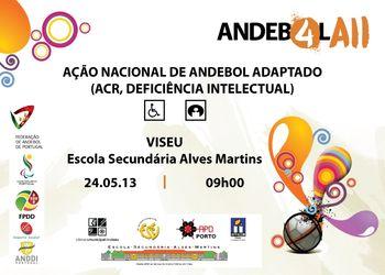 Cartaz Ação de Formação de Andebol Adaptado - Viseu, 24.05.13