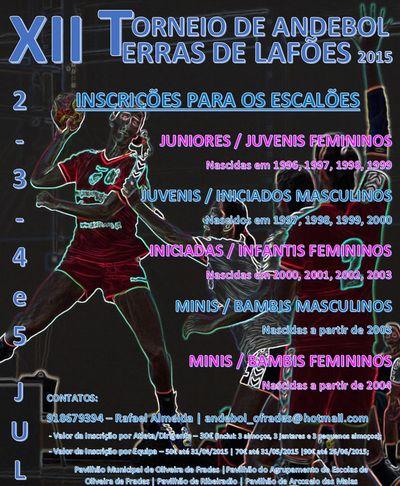 Cartaz XII Torneio de Andebol – Terras de Lafões 2015