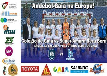 Cartaz Colégio de Gaia - Super Amara Bera Bera - Womens EHF Cup 2017-18