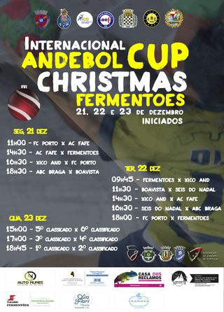 Cartaz Andebol Cup Fermentões Christmas