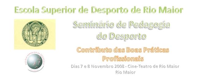 Logo Seminário de Pedagogia do Desporto