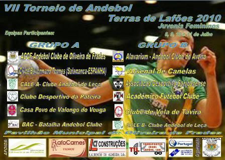 Cartaz VII Torneio de Andebol - Terras de Lafões